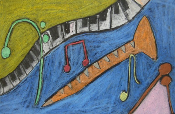 """Abstract """"musical Composition"""" Teachkidsart"""