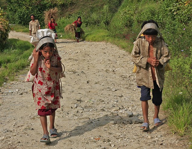 Mountain Children in Nepal
