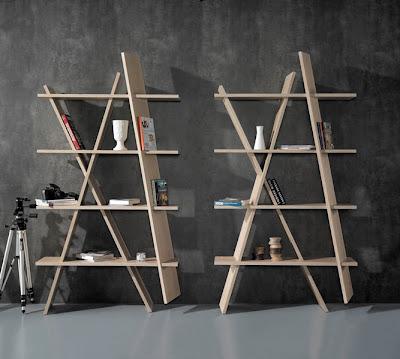 Muebles de madera de roble.