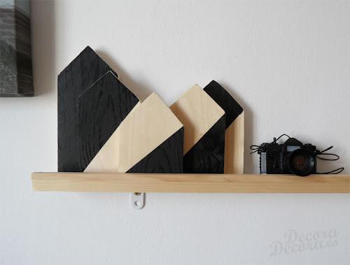 Pintura pizarra en casitas de madera.
