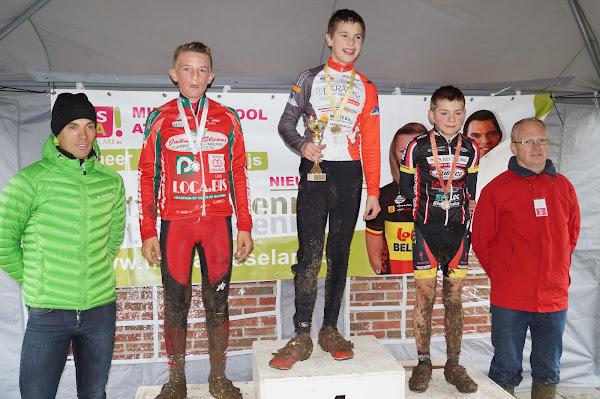 Podium Aspirantencross 13 jaar MSKA Roeselare