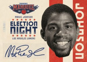 2012-13 Panini Marquee Election Night Magic Johnson Auto