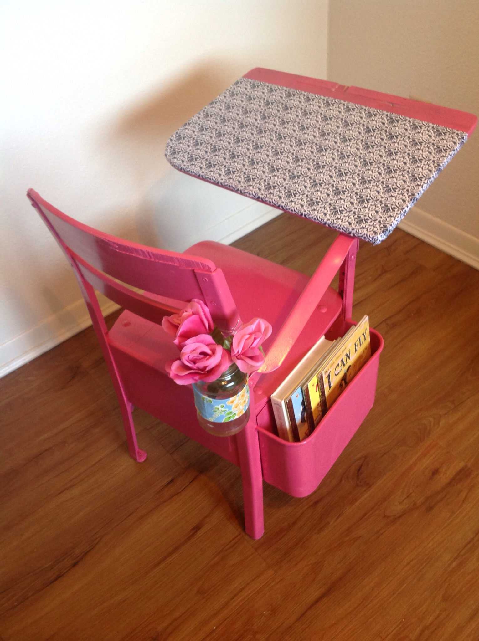 vintage school desk chair combo rocker gaming chairs sew much more than rubies re do