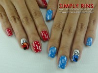 Nail Art: Cookie Monster and Elmo