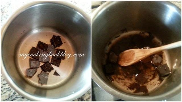 Баварски крем с бадеми и шоколад