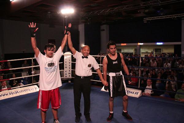 Gardezi Mino vs Kosham Ahmed, boksmeeting Harelbeke 22 maart 2014