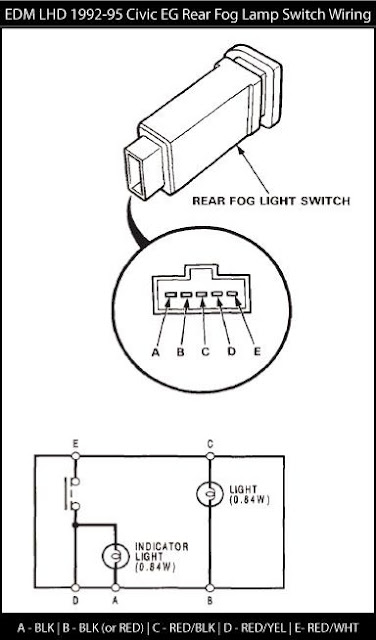 Honda Civic Fog Light Wiring Diagram Honda Circuit Diagrams