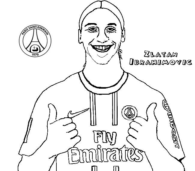 Zlatan Ibrahimovic Coloring Page