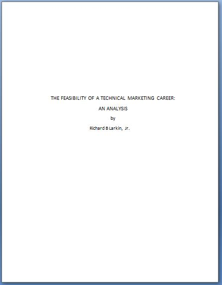 Technical Writing Chapter 25 Front Matter And End Matter