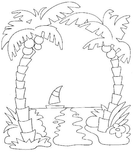 Pin Paisaje Mar Dibujos Para Colorear Acolorear On Pinterest