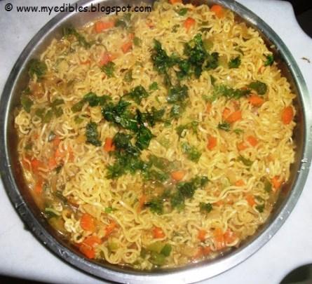 蔬菜玛吉面印度最喜欢的卡哈纳