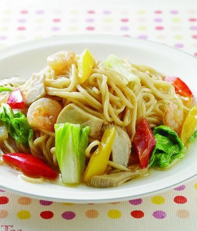 從【食】招來 美食食譜: 麵食食譜-咖哩什錦炒烏龍麵