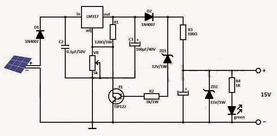 invertor solar 12V- regulator de incarcare-schema
