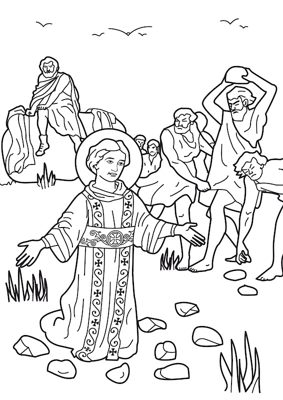 The stoning of St. Stephen as Saul (later called Paul