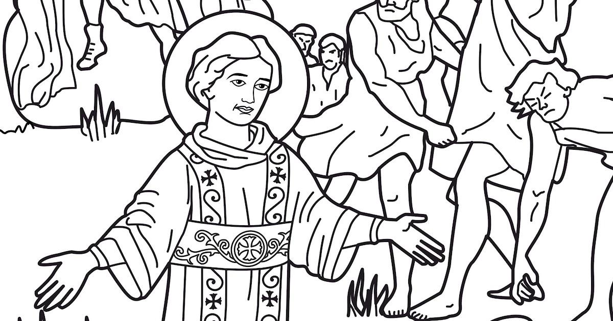 Dibujos Católicos : Apedreo a San Stephen