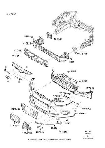 2014 Ford Bumper Parts Diagram. Ford. Auto Parts Catalog