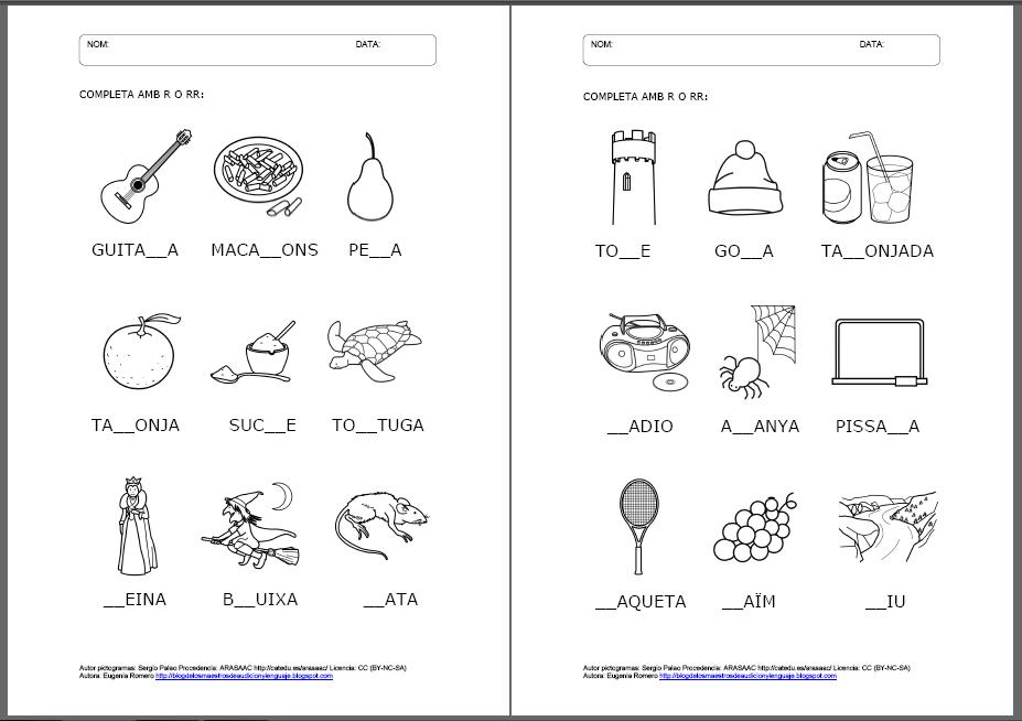 Download Laminas Con Dibujos Para Aprender Palabras Y