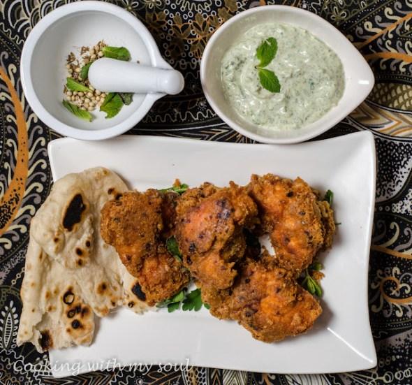 Pui pane indian (Chicken pakora)