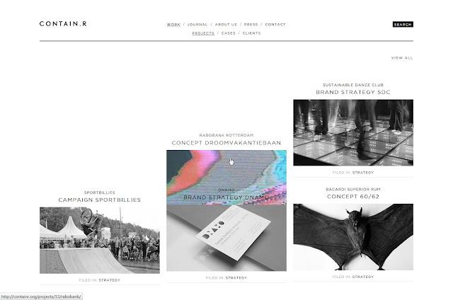 *充滿雜訊效果的灰色時尚:Contain.r Web Site 6