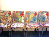 Artsy Mother Forkers:: Hand-painted chairs