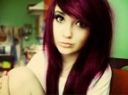 dark brown hair dye purple tint
