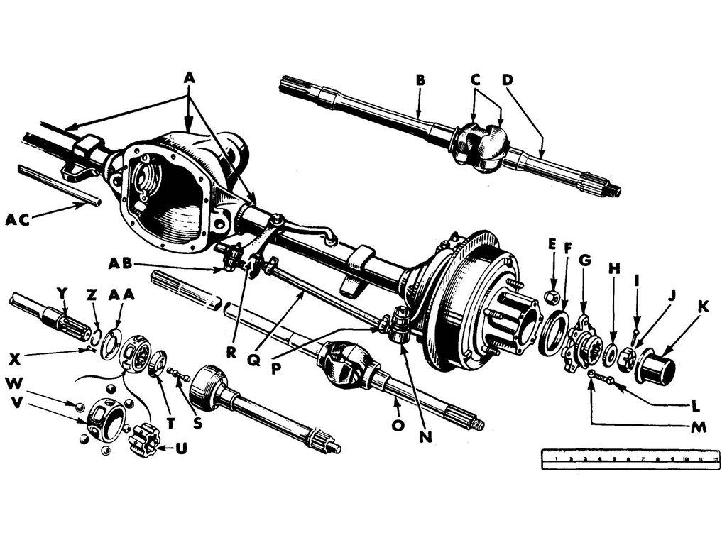 Willys MB / Ford GPW Front Axle