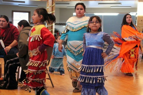 Marjorie's Round Table Ojibwe Language Club held a powwow at the Maple Plain Community Center