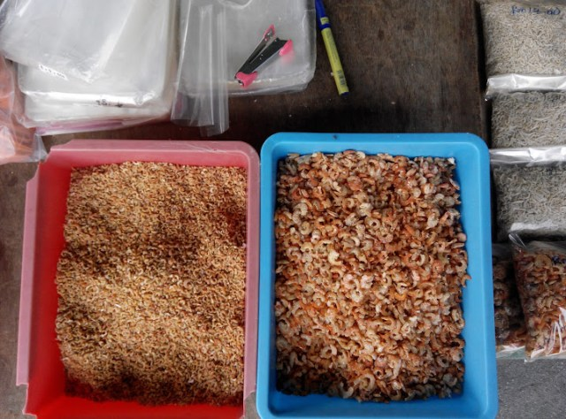 Dried seafood sold along the main road