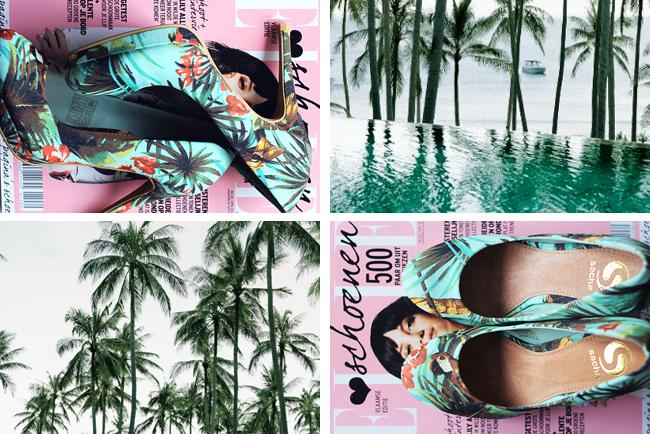New in: Hawaii print heels