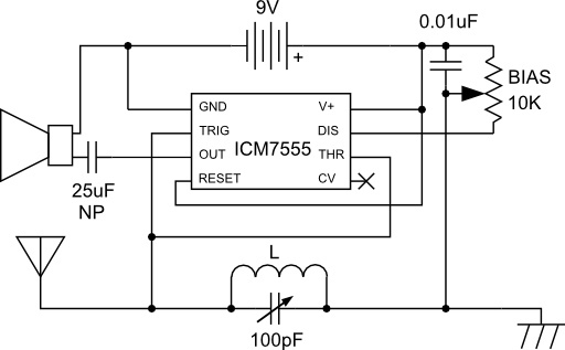 Electronics For Bharat: AM Radio Receiver Using 555: Simple RF