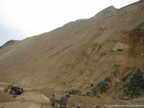 Minería en la laguna de La Herrera
