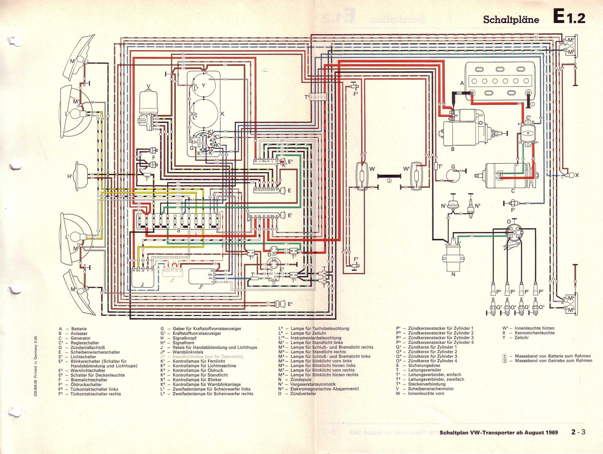 1973 vw bus wiring diagram 1999 bmw z3 radio schemi elettrici