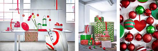 Decoración de Navidad escandinava.