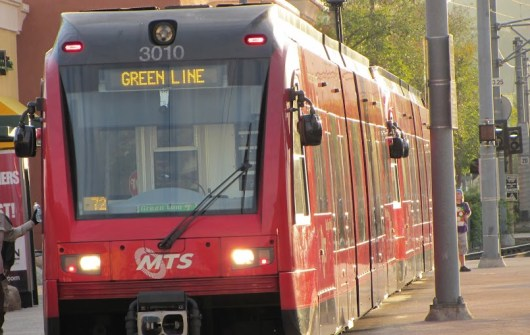 Green Line Trolley Up-Close