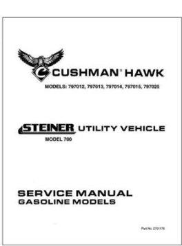 EZGO 2701176 1999 Service Parts Manual for Gas Cushman