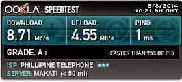 PLDT Fibr Plan 3500 Speedtest