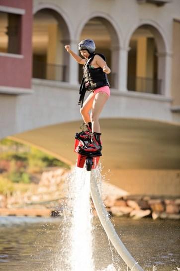 5 Las Vegas Outdoor Activities - Flyboard at Lake Las Vegas.