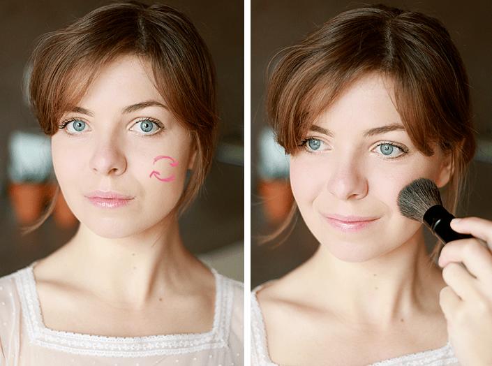 appliquer le blush, comment poser son blush, se maquiller selon la forme du visage, technique de maquillage, tutoriel makeup