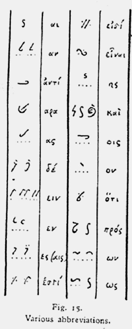 NT Textual Criticism: Ligatures and Tachygraphy