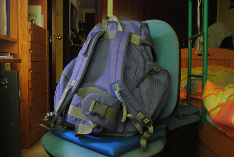 La parte de la espalda de mi mochila no está hecha para viajar durante mucho tiempo