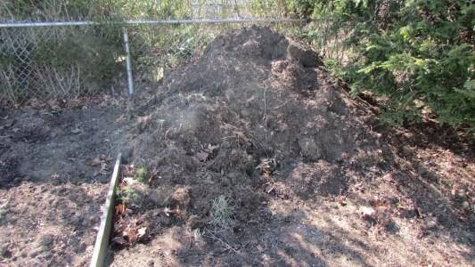 Compost pile outside