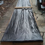 Yesterday and today I made a 60 cubic foot Solar Hot Air panel to heat my garage….