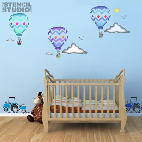 Stencil para decorar un cuarto infantil.