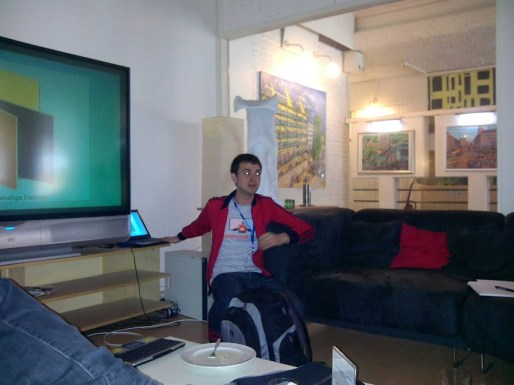 Anton Bollen in seiner Screencasting Session