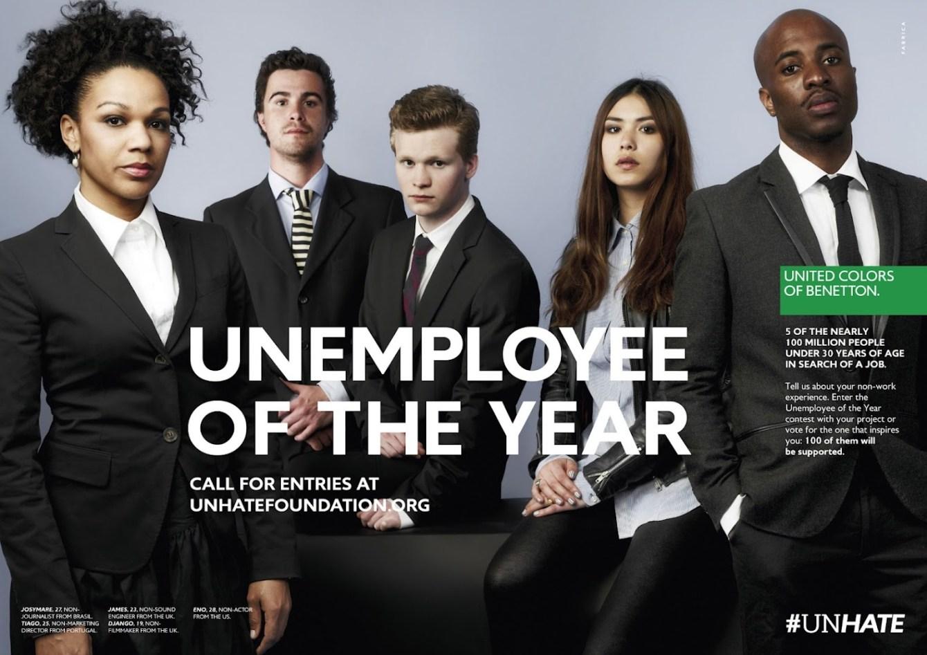 *年度最佳失業青年 請出列:班尼頓的Unemployee of the Year計畫! 2