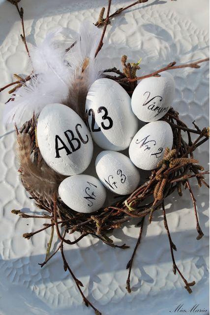 Cómo decorar huevos de Pascua.