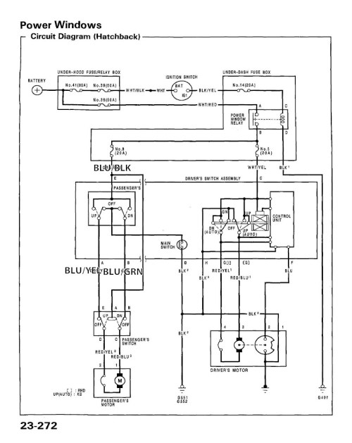 small resolution of 96 honda civic window wiring schematic