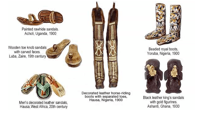 Shoes from African history