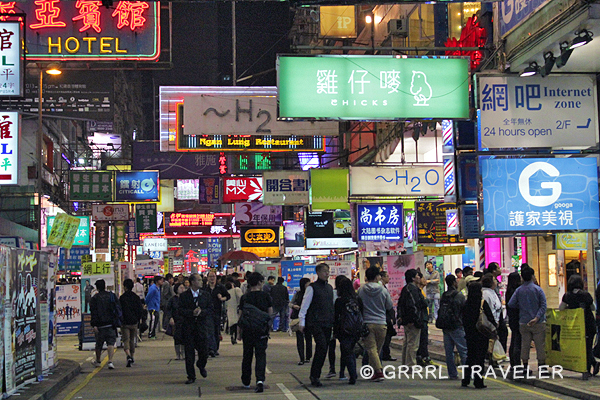 hong kong city at night, hong kong signs, hong kong city images, population in Asia china hong kong