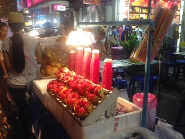 Fresh pomegranate juice at China Town in Bangkok